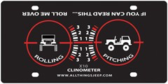 Clinometer – Roll Me Over License Plate