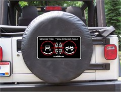 Clinometer Graphic, Roll Me Over Black Spare Wheel Cover