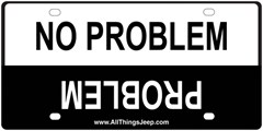 No Problem/Problem License Plate Insert