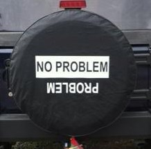 No Problem / Problem  - Black Spare Wheel Cover