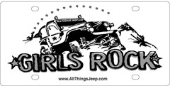 Girls Rock License Plate