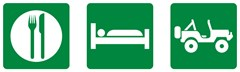 """Eat, Sleep, 4x4"" Road Sign Decal"