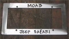 Moab Jeep Safari License Plate Frame