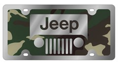 Jeep Grill Green Camouflage License Plate