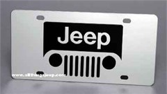 Jeep Grill License Plate, Stainless Steel