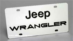 Jeep Wrangler License Plate, Stainless Steel