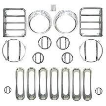 Euro Guard Kit with Grille JK, (2007-2013), Stainless Steel