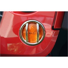 Stainless Turn Signal Euro Guards - Jeep Wrangler JK (2007-2014)