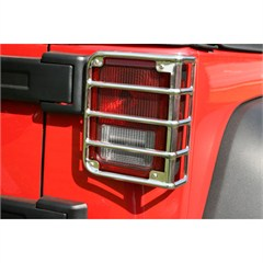 Tail Light Euro Guards Wrangler JK 2007-2016 Stainless Rugged Ridge