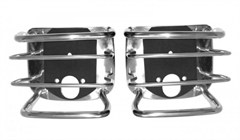 Euro Tail Light Guards, Stainless- Jeep CJ, YJ, TJ, LJ 1976-2006