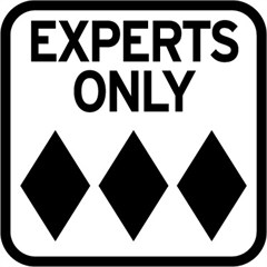 """EXPERTS ONLY"" Road Sign Decal"