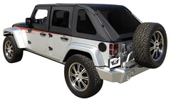 Rampage Frameless Sailcloth Soft Top for 4 Door JK 2007-2015