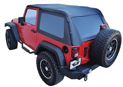 Rampage Frameless Sailcloth Soft Top for 2 Door JK 2007-2014