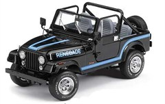 Franklin Mint 1986 CJ-7 Renegade Jeep Diecast Model