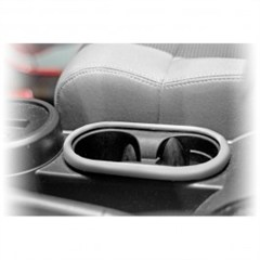 Front Cup Holder Accent, Rugged Ridge, Jeep Wrangler JK (2007-2010), Silver
