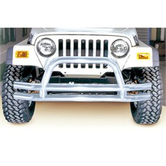 Stainless Front Tube Bumper for Jeep Wrangler CJ, YJ, TJ and LJ