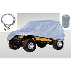 3 Piece Full Car Cover Kit for Jeep Wrangler LJ (2004-2006) and JK (2007-2014)
