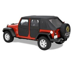 Full Soft Doors Front Jeep Wrangler JK 2007-2016 Black Diamond Bestop