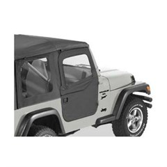 Full Soft Doors by Bestop-Jeep Wrangler TJ, LJ - Black Diamond