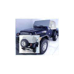 Gray Water Resistant Vinyl Cab Cover for Jeep Wrangler YJ (1992-1995) and TJ (1997-2006)