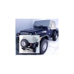 Gray Water Resist Vinyl Cab Cover-Jeep Wrangler YJ, TJ 1992-2006