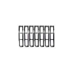 Chrome Trim Grille Inserts for Jeep Wrangler TJ (1997-2006) and LJ (2004-2006)