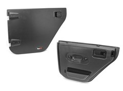Half Door Pair Wrangler JK 4D 2007-2016 Rear Black Rugged Ridge
