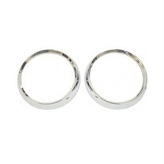 Headlight Bezel Pair,1972-1986 (CJ), chrome