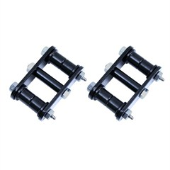 Heavy Duty Shackle Pair, 1976-1986 (CJ) Front, Greasable With Black Bushings