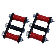 Heavy Duty Shackle Pair, 1976-1986 (CJ) Front, Greasable With Red Bushings