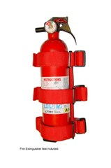 Fire Extinguisher Holder CJ Wrangler 1955-2017 Red Rugged Ridge
