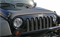 Hood Bra, Triangle, (2007-2014) Jeep JK Wrangler, Black Denim