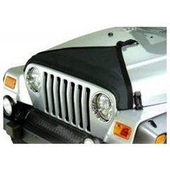 Black Denim Triangle Hood Bra for Jeep Wrangler TJ (97-06)