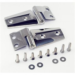 Hood Hinge Kit Wrangler JK 2007-2016 Stainless Steel Rugged Ridge