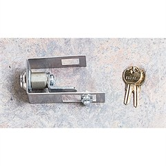 Silver Hood Lock Kit for Jeep Wrangler TJ (1998-2006) and LJ Unlimited (2004-2006)