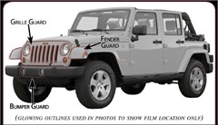 Husky Shield® Paint Protection Film Kit Only for Jeep® Wrangler JK Sahara