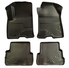Husky Front/Rear Floor Liners-2011-2014 Grand Cherokee WK2-Black