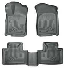 Husky Front/Rear Floor Liners, 2011-2014 Grand Cherokee WK2-Grey