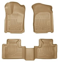 Front & Rear Floor Liners - Jeep Grand Cherokee (2011-2014), Tan