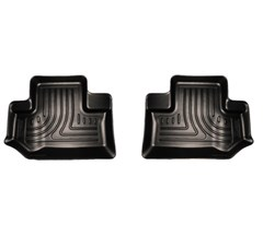 Husky Rear Floor Liners in Black for 2 door Jeep Wrangler JK 2014-2016