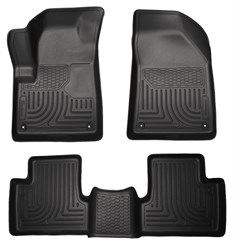 Husky Front & Rear Floor Liners for Jeep 2014 Cherokee - Black