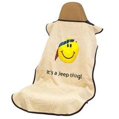 Jeep Seat Towel with Smiley Face / It's a Jeep Thing