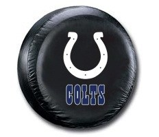 Indianapolis Colts NFL Tire Cover - Black Vinyl