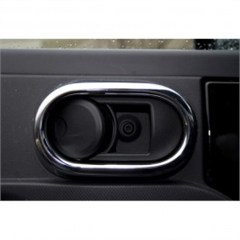 Interior Door Handle Cover Trim, Jeep Wrangler JK (2007-2010), Pair, Chrome