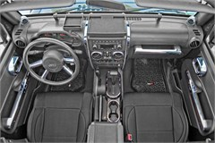 Chrome Interior Accent Kit - Jeep Wrangler JK 4D w/AT & PW 07-10