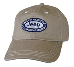 Jeep Contrast Stitch Hat, Khaki