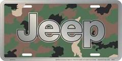 Jeep Camo License Plate