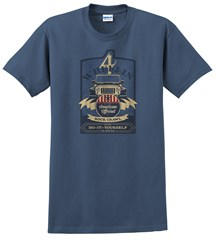 Beer Label Men's T-Shirt, Blue