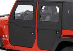2 Piece Soft Doors, Rear, Jeep JK 4 Door (2007-2014), Bestop