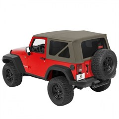 Bestop Supertop NX Complete Soft Top Kit for 2 Door JK 2007-2014 Khaki Diamond